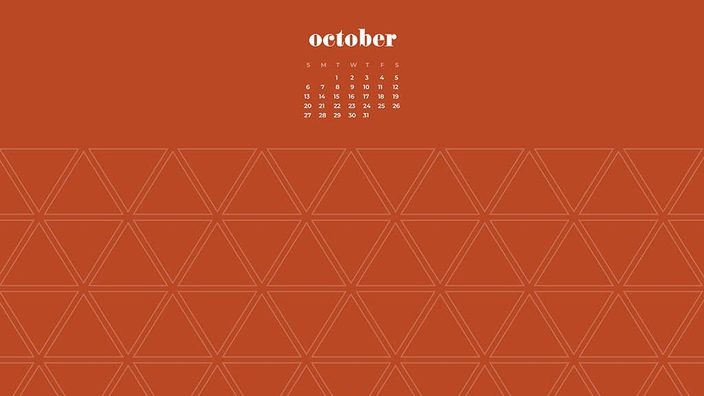 FREE October 2019 desktop wallpapers burnt orange
