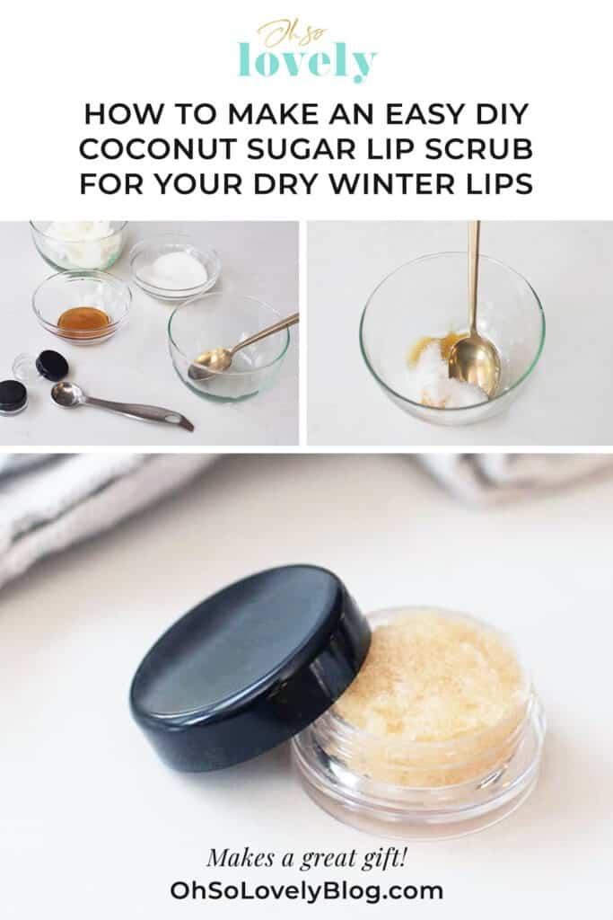 DIY coconut sugar lips scrub