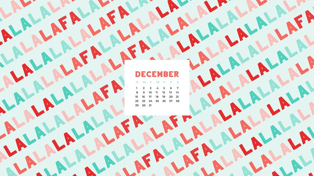free December wallpaper calendars — falala