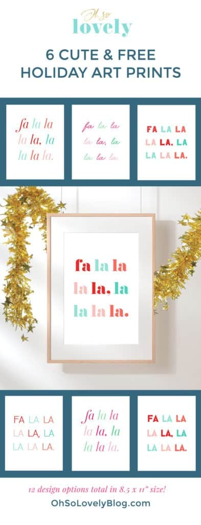 FREE holiday art printables