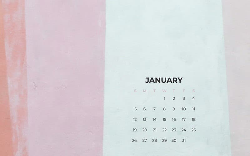 free paint striped desktop calendar
