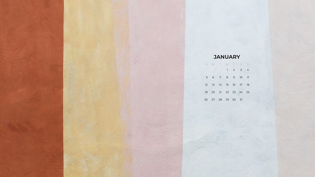 FREE January desktop calendars — 24 designs to choose from!