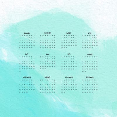 aqua watercolor desktop wallpaper for 2020