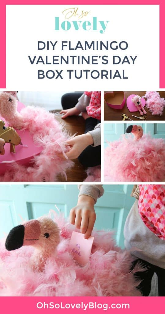 Learn how to make a DIY flamingo Valentine's Day box — the cutest and easiest craft project perfect for your flamingo loving kid!