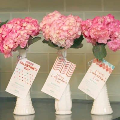 free valentine printables ties to flower vases