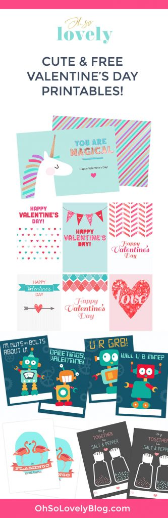 free valentine printables for Valentine's Day