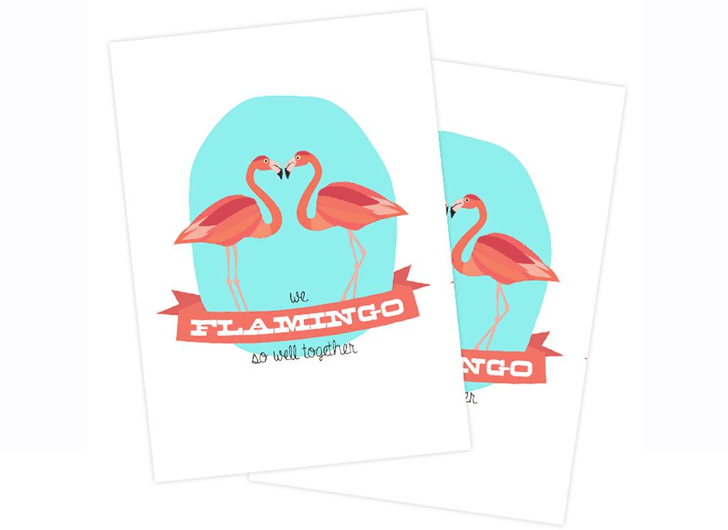 free flamingo valentine printables