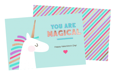 free unicorn valentine printables for Valentine's Day
