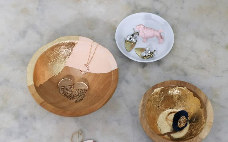 DIY  //  GOLD LEAF JEWELRY DISH