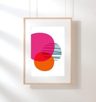 free colorful geometric art
