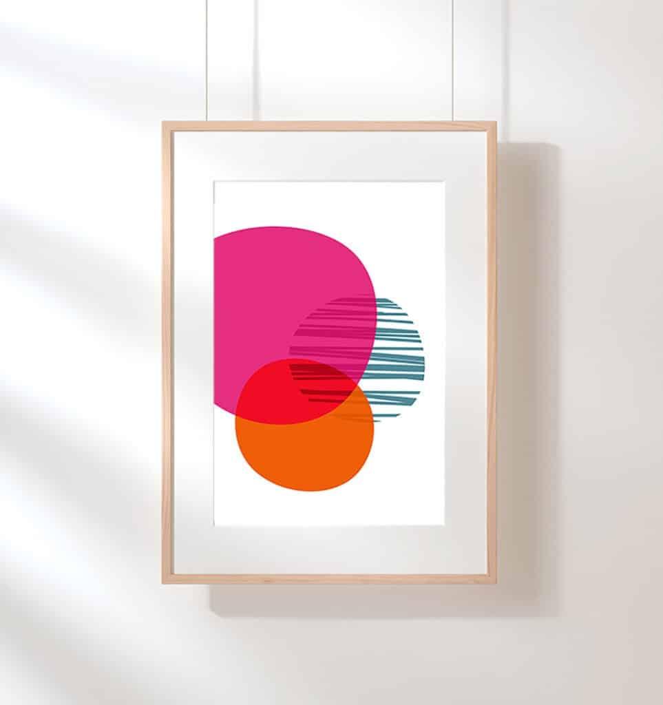 free colorful geometric art