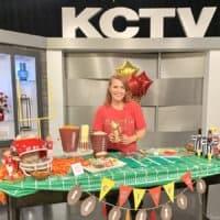 Audrey Kuether Super Bowl TV segment
