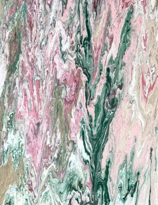 pink and green abstract art print