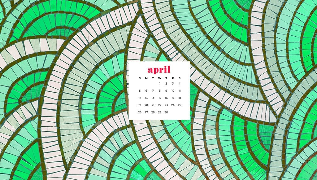 free April wallpaper green