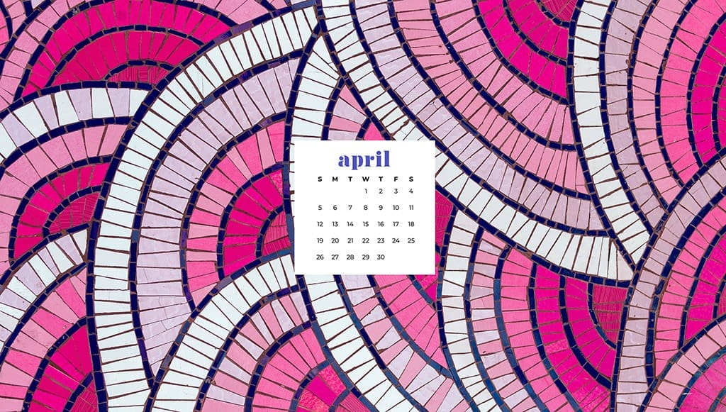 free April wallpaper pink