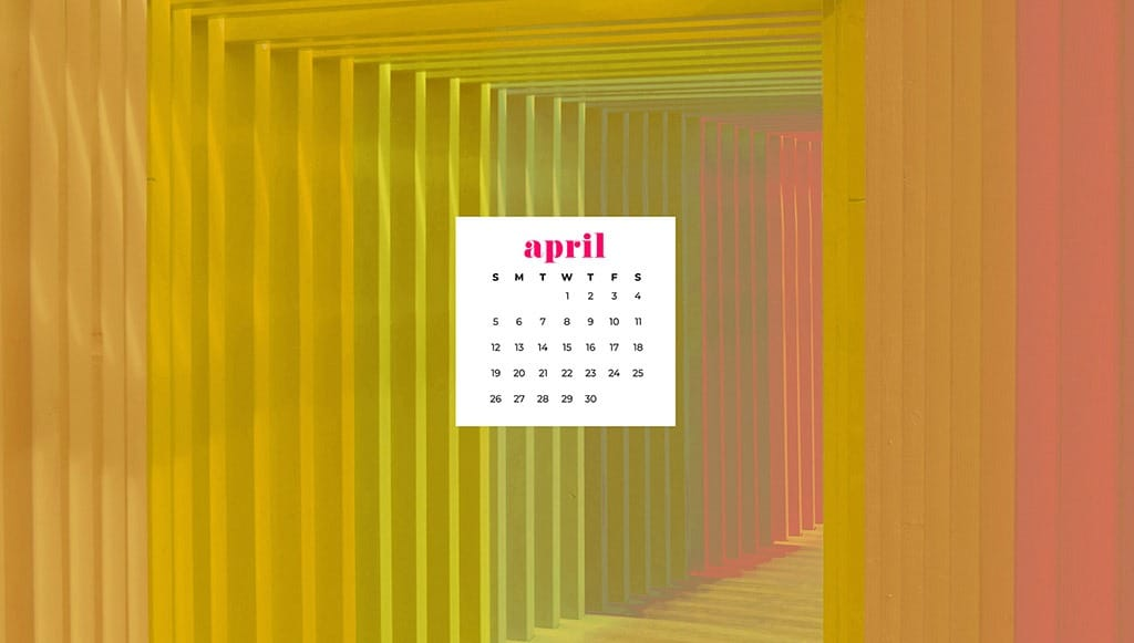 free April wallpaper rainbow