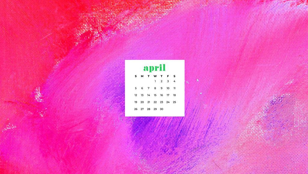 free April wallpaper colorful