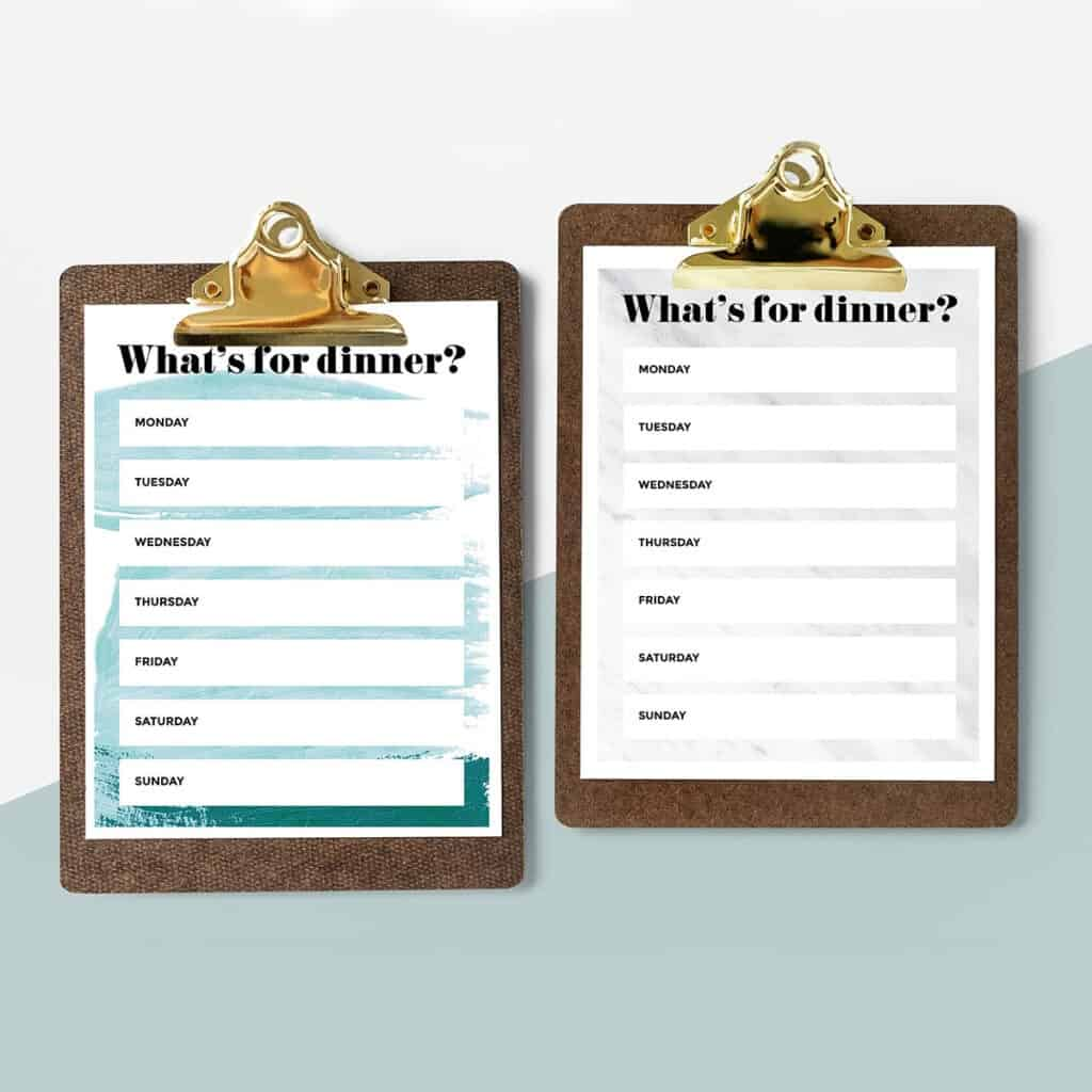 19 free meal planning worksheets clipboard