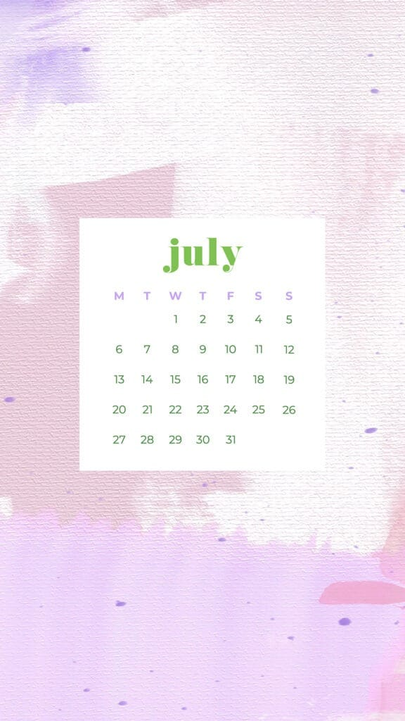 Free July wallpapers abstract