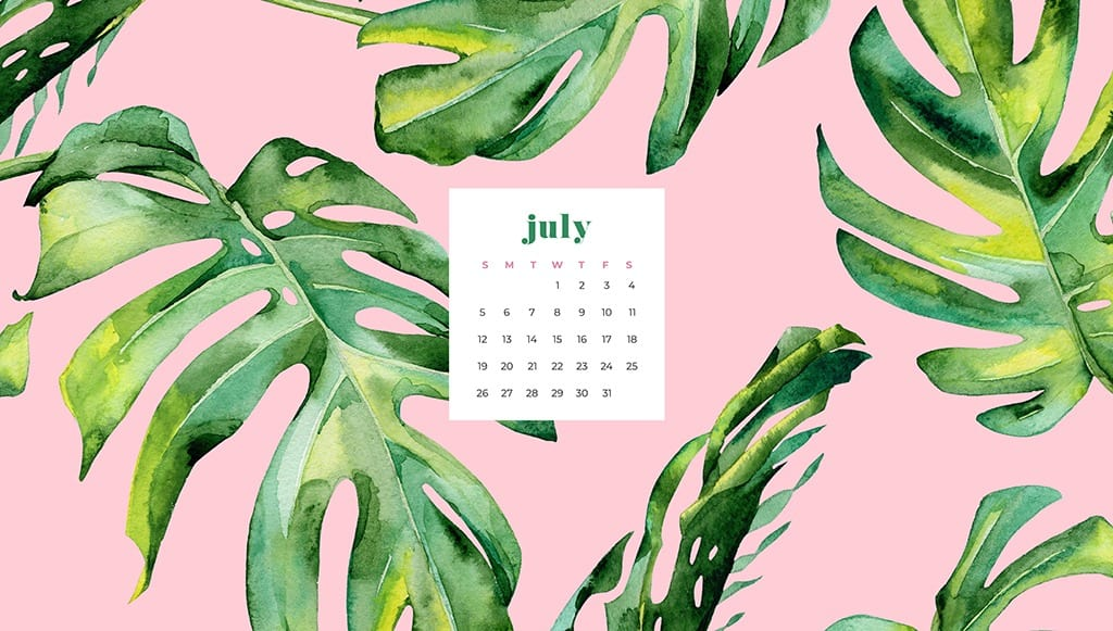 Free July Wallpapers 9 Designs In Both Sunday And Monday Starts
