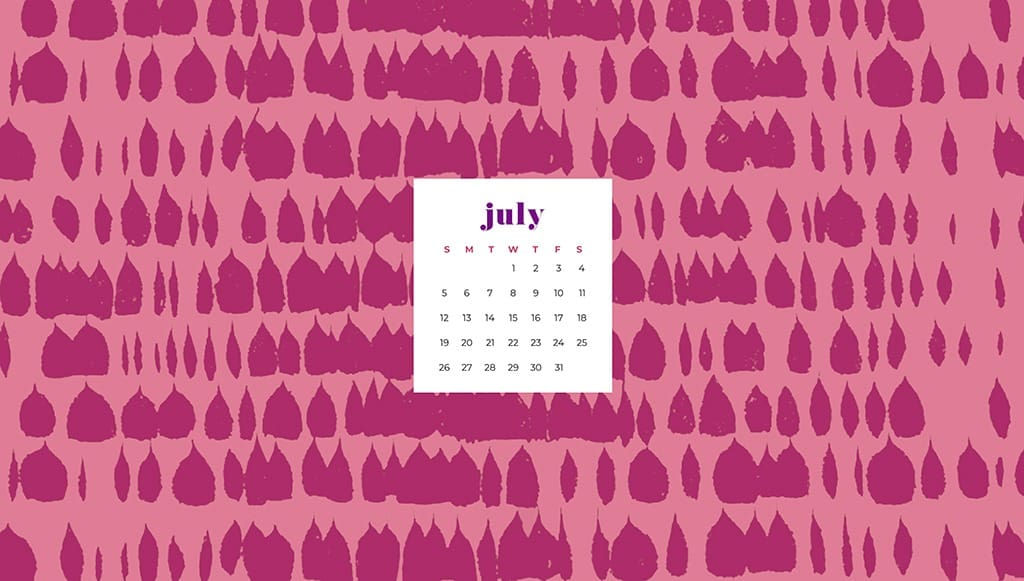 Free July wallpapers pink