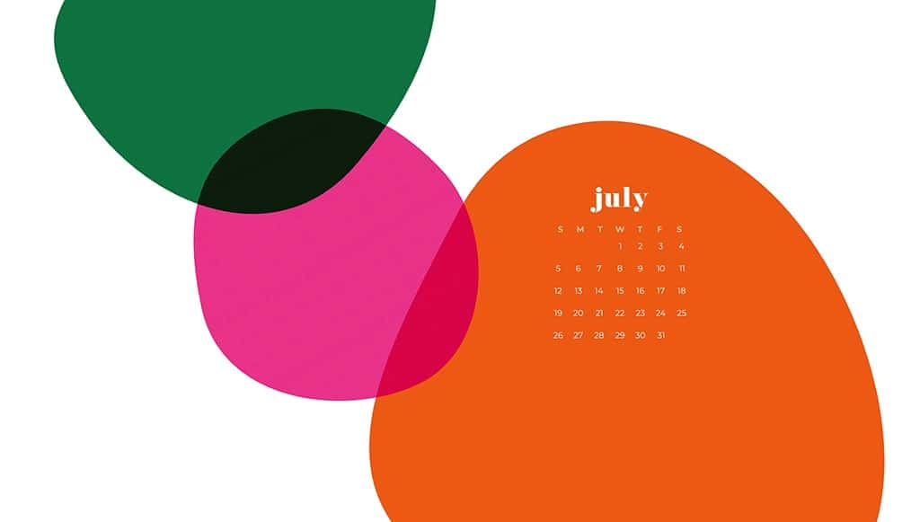 Free July wallpapers abstract colorful