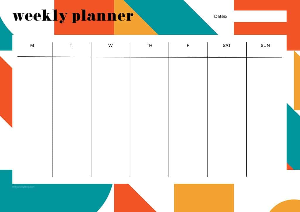 Free weekly planner printables — 23 designs to choose from!