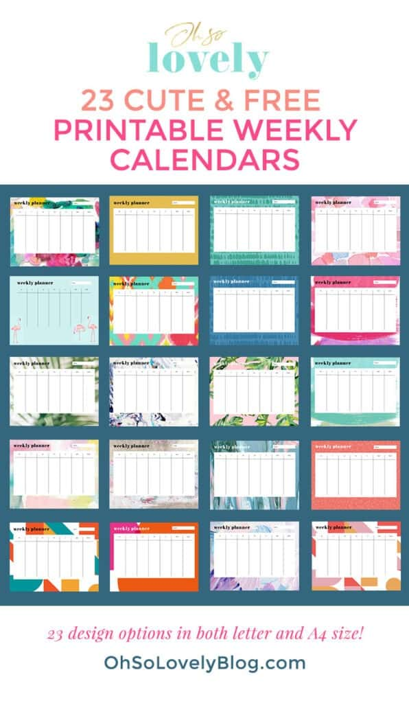Free weekly planner printables — 23 designs to choose from on top of the 21 I already shared. Download your favorites today absolutely FREE.