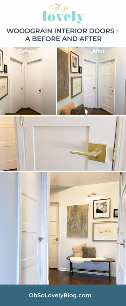 Learn how we replaced our interior doors with Woodgrain Doors by installing them into our existing jambs — Get all our tips and steps to do it yourself!