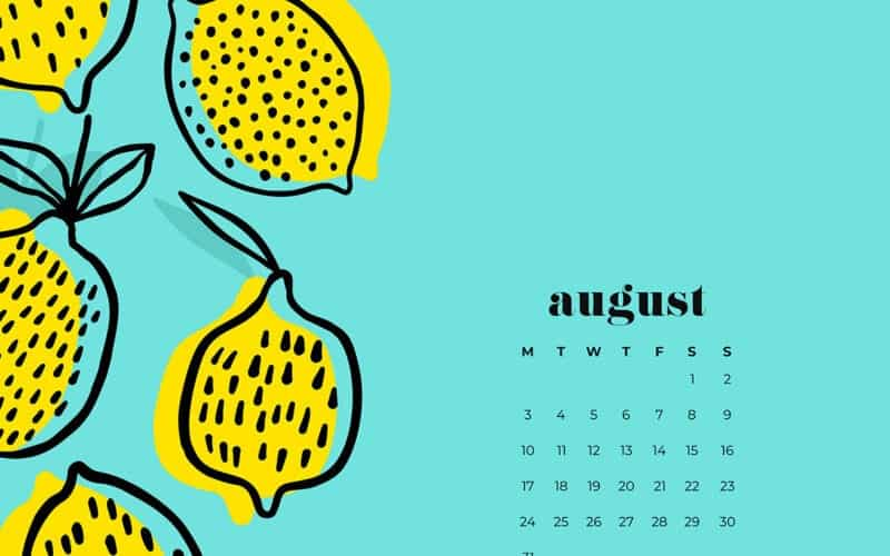 14 FREE AUGUST WALLPAPERS