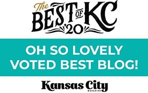 Oh So Lovely Blog voted best blog in Kansas City 2020