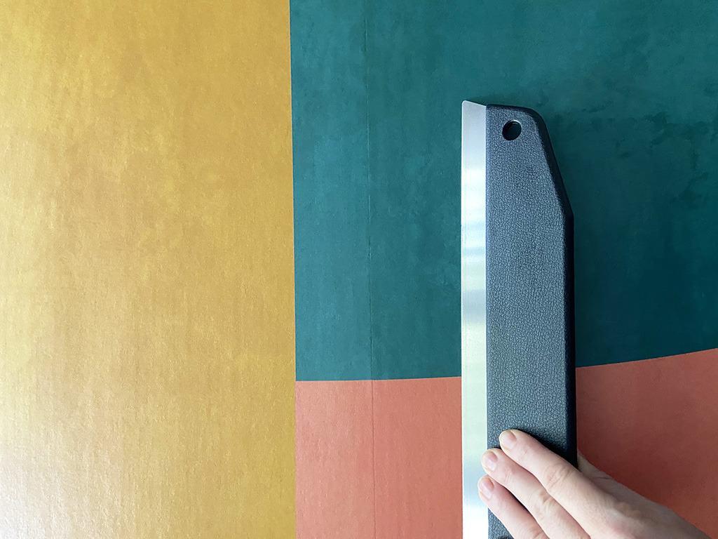 DIY wallpapered headboard