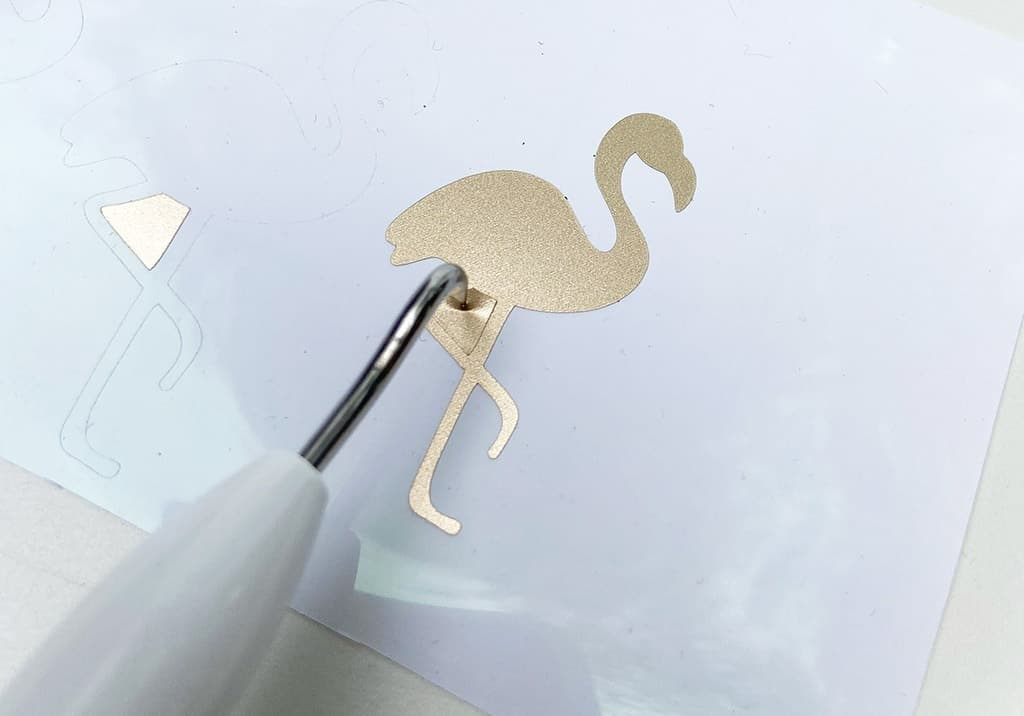 Cricut Gold foil flamingos