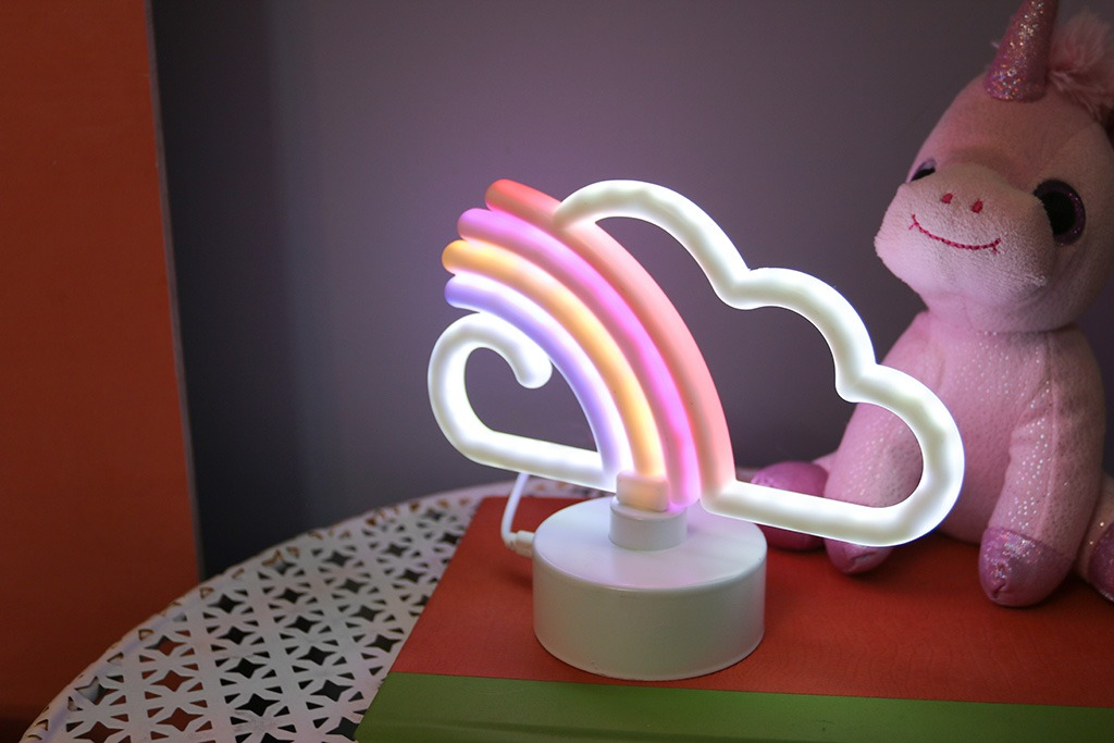 rainbow neon sign from target