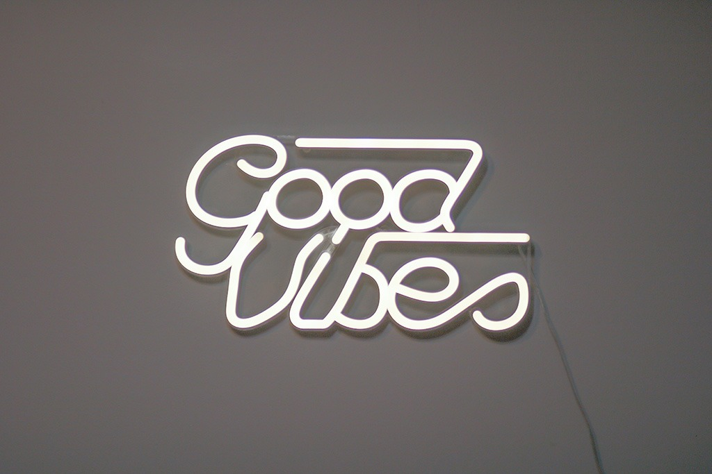 good vibes neon sign from Target
