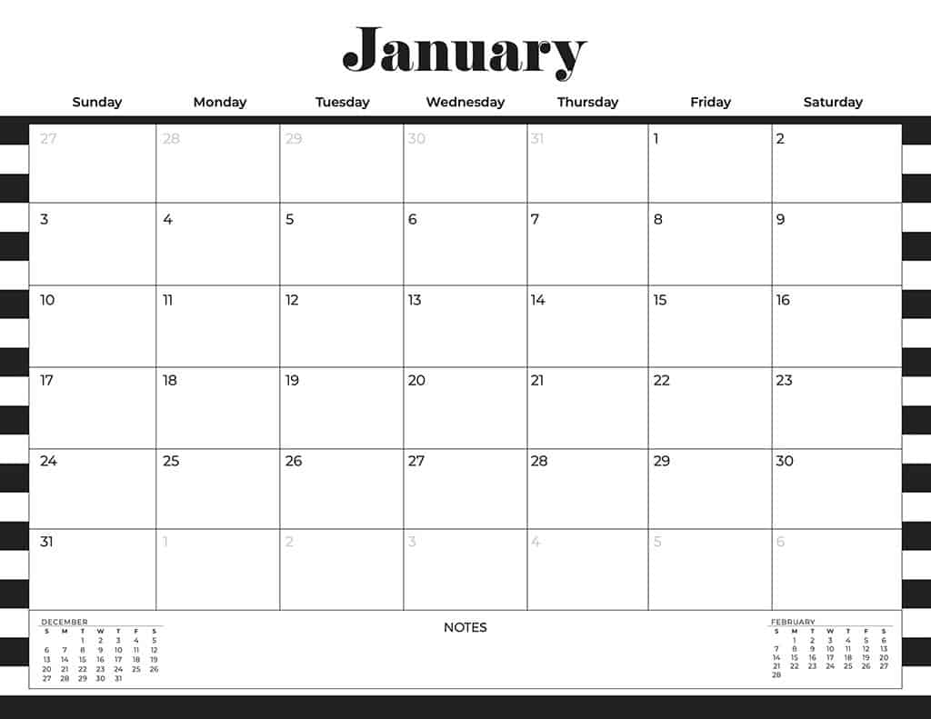 free 2021 calendars stripes