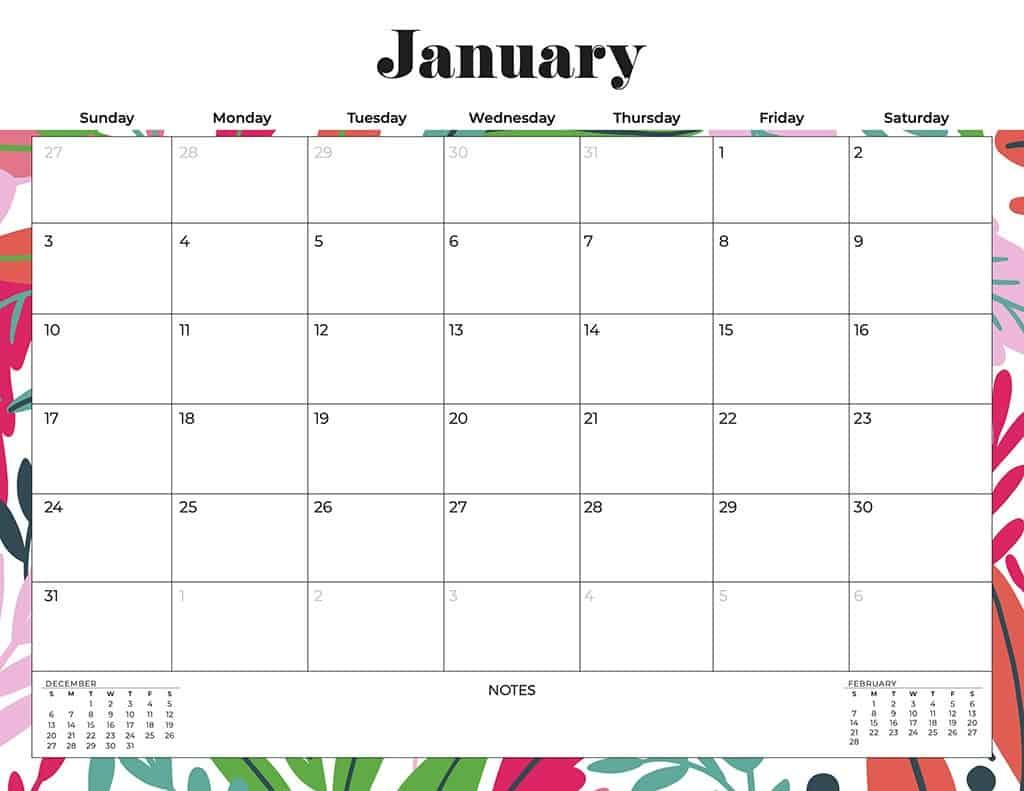 free 2021 calendars flowers