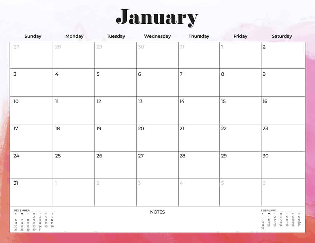 free 2021 printable calendars abstract and colorful