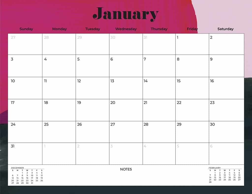 free 2021 calendars abstract