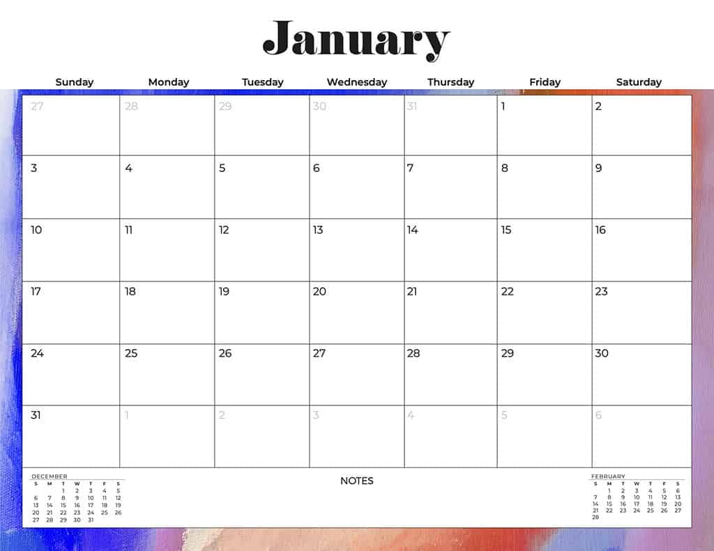 free 2021 calendars colorful abstract