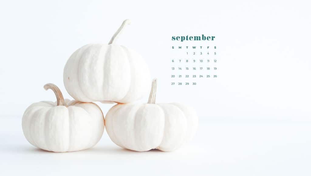 Free September 2020 desktop calendar wallpapers — 16 designs options!