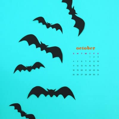 Free October 2020 desktop calendar wallpapers — 22 designs to choose from in both Sunday and Monday starts + no calendar options.