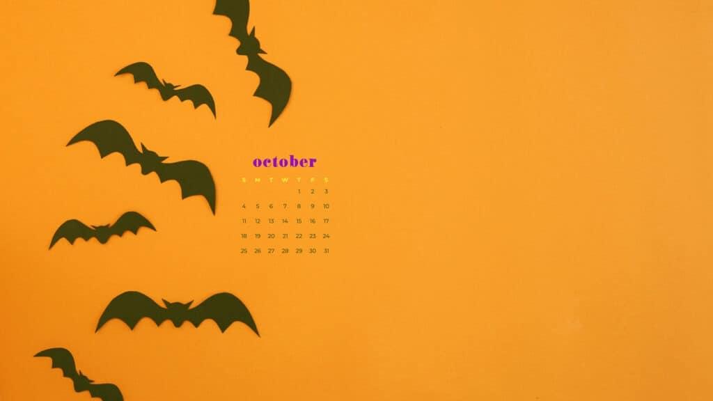 Free October 2020 desktop calendar wallpapers — 22 design options!