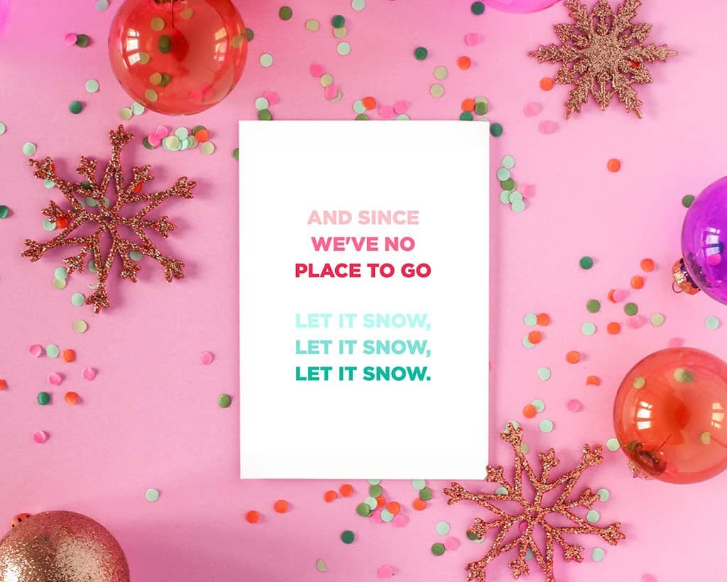 40 festive and free holiday art printables in various colors to help you deck your halls this holiday season!