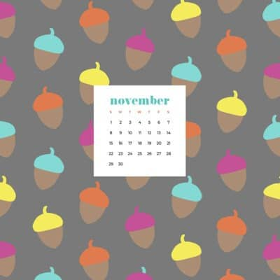 Free November 2020 desktop calendar wallpapers — 27 designs to choose from in both Sunday and Monday starts + no calendar options.