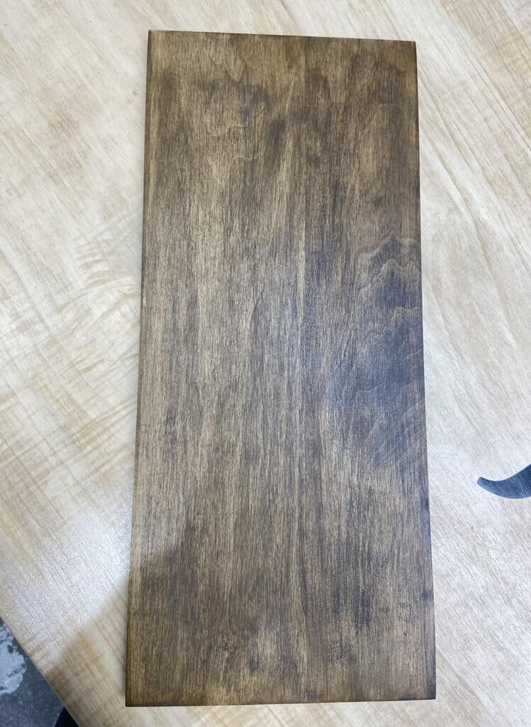 Choosing maple wood and finish at J THOMAS HOME in Olathe, KS