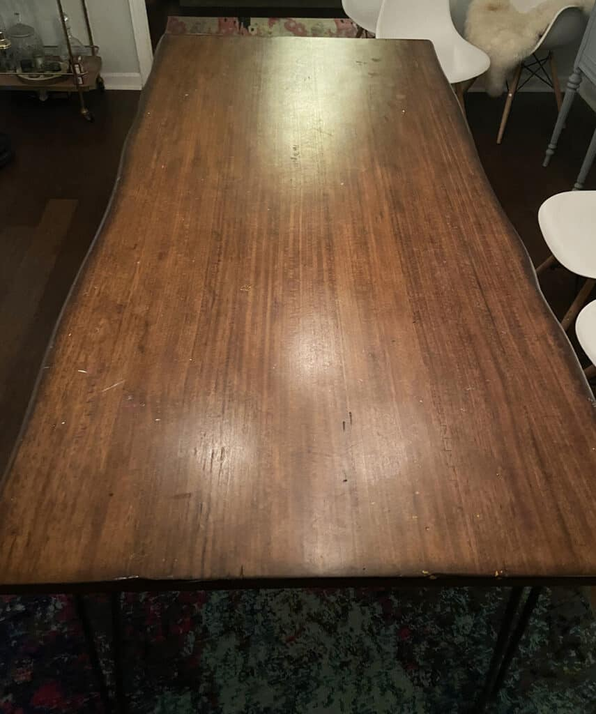 old mass produced table