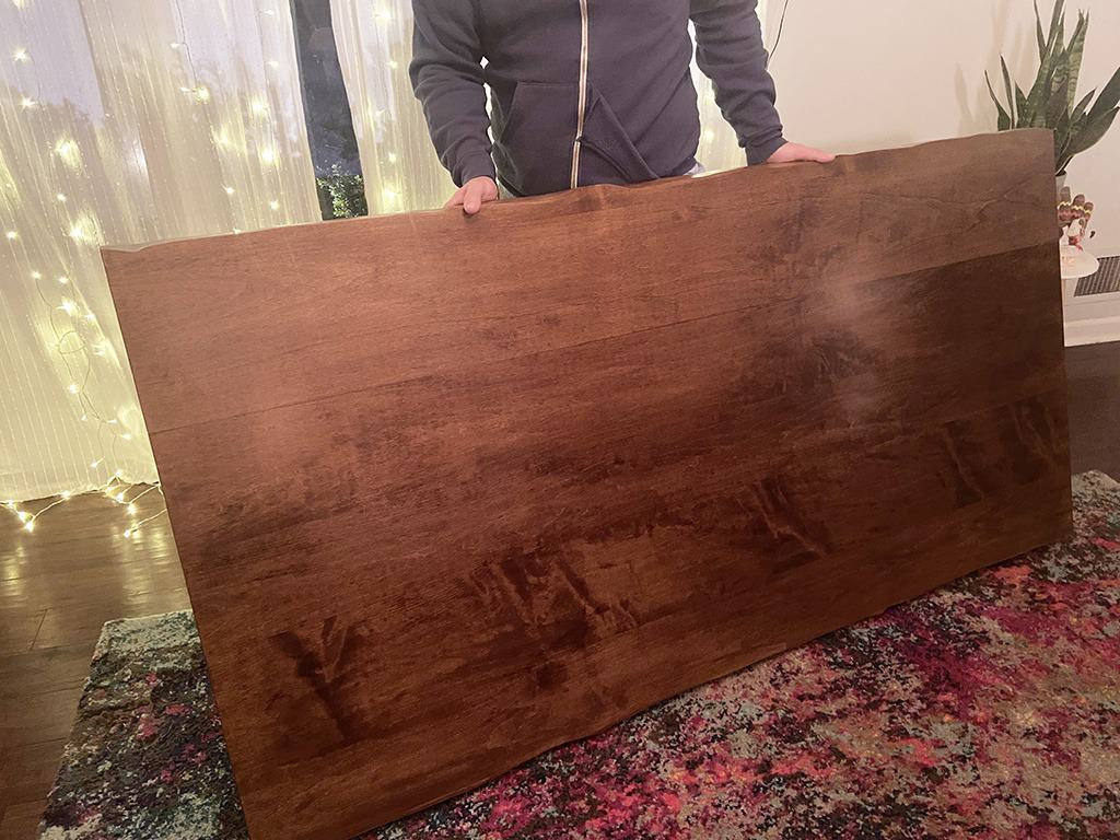 I'm so excited to share our new live edge  custom dining table made by J THOMAS HOME and take you through the ordering and selection process!