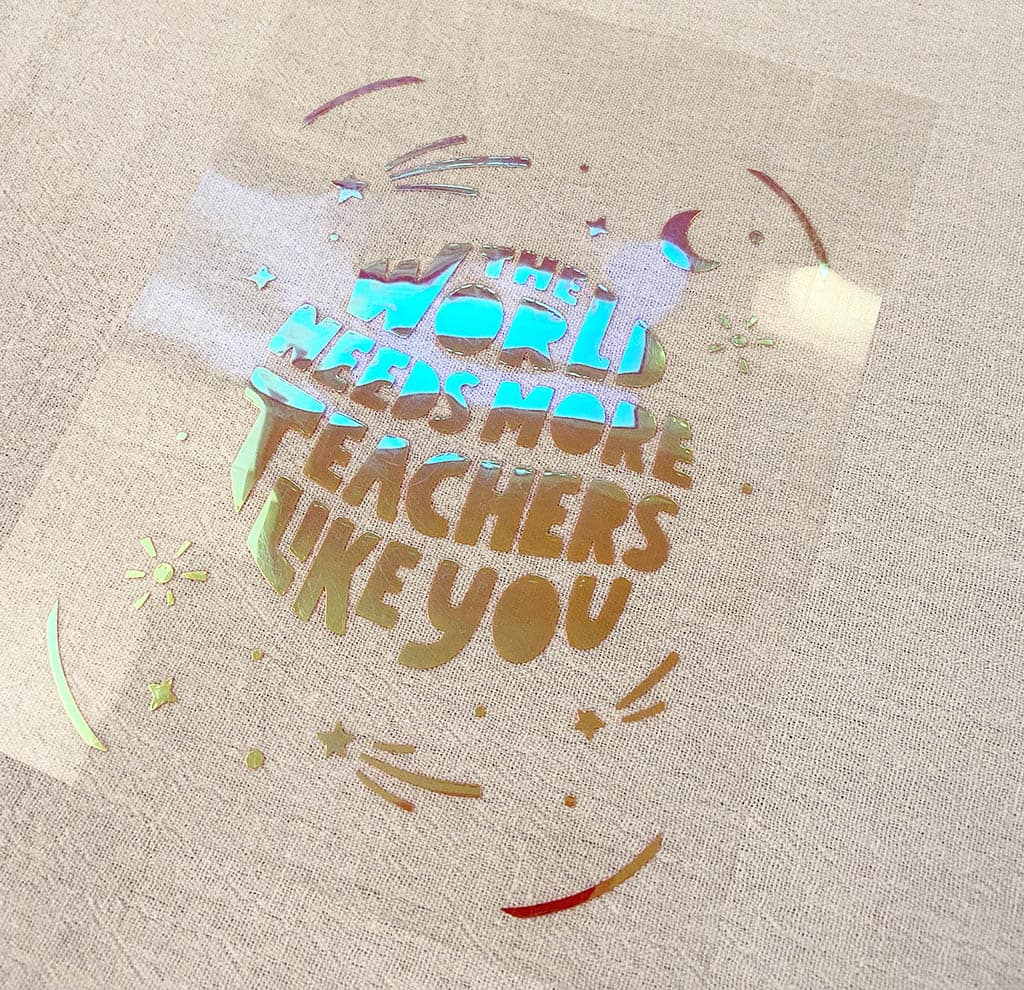 holographic smart iron-on vinyl from Cricut
