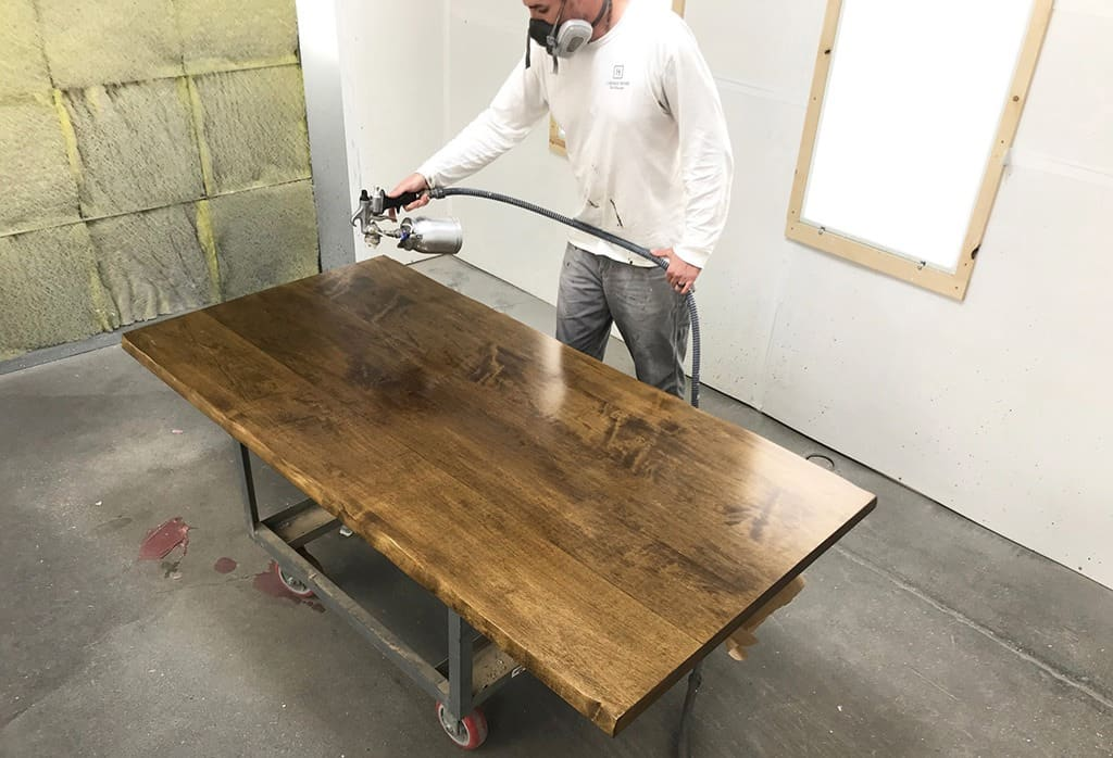 Our new live edge  custom dining table made by J THOMAS HOME.